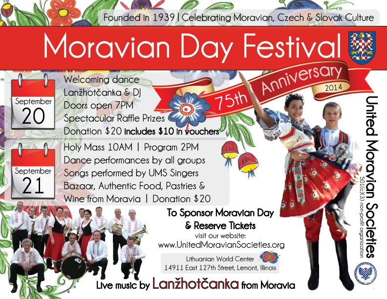 75th Moravian Day Flyer